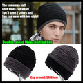 10p!Men&Women Beanie Top Quality Hip-hop Slouch Unisex Woolen Knitted Cap Spring&Winter Snap Slouch Bonnet Hat,Double-sided Wear
