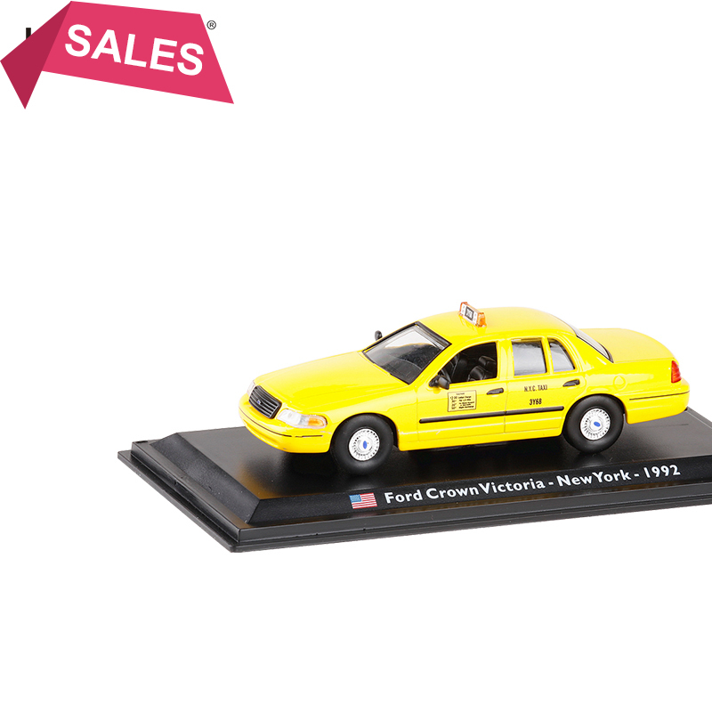 New LEO 1/43 Scale Car <font><b>Model</b></font> Toys USA 1992 <font><b>Ford</b></font> Crown Victoria Newyork TAIX Diecast Metal Car <font><b>Model</b></font> Toy For Kids Gifts Toy image
