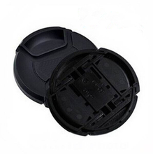 10pcs/lot 49 52 55 58 62 67 72 77 82 86mm center pinch Snap on cap cover Logo for canon nikon camera Lens
