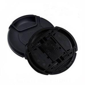 Image 1 - 10pcs/lot 49 52 55 58 62 67 72 77 82 86mm center pinch Snap on cap cover Logo for canon nikon camera Lens