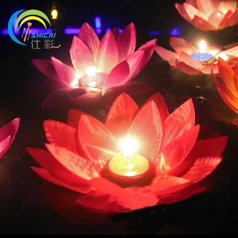 10 unids / regalo de San Valentín que desea lámpara Lotus Lantern - Para fiestas y celebraciones