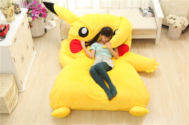 Image 3 - Lovely Pikachu Mattress Totoro Lazy Sofa Cushion Mat Soft Cartoon Bed Child Tatami Cute Toys For Kid-in Mattresses from Furniture