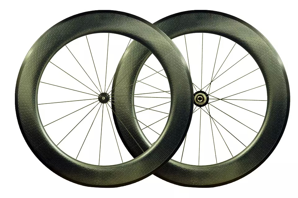 zip dimple 808 Golf surface wheel set Full Carbon Fiber Road Wheel set 700C 80mm 25mm width Free decals bicycle wheel