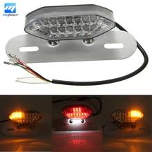 Motorcycle Quad ATV E11 Rear LED Brake Tail Turn Signal Indicator License Plate Light Lamp For Curiser For Chopper