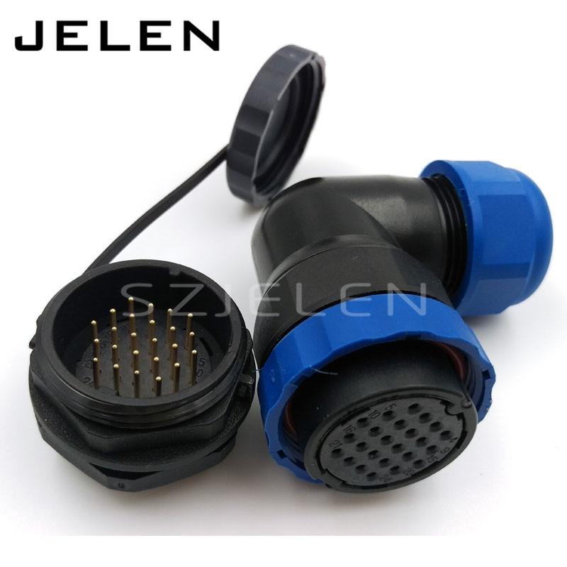цена на SD28TA-ZM, IP68 waterproof power 24 pin circular connector, Electric waterproof plug socket 24pin male connector power