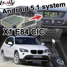 Android 6.0 de navegación GPS caja de interfaz de video para BMW E84 X1 sistema CIC espejo enlace youtube waze iGO yandex