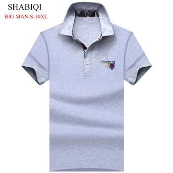 SHABIQI SummerClassic Style męskie koszulki polo marki polo koszulki polo w jednolitym kolorze casual bawełniana koszulka polo z krótkim rękawem mężczyźni Plus rozmiar tanie i dobre opinie COTTON Na co dzień Stałe REGULAR Anti-shrink NONE Polos 1705 men and big men S M XL XXL 3XL 4XL 5XL 6XL 7XL 8XL 9XL 10XL