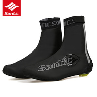Santic 2019 Cycling Shoe Covers PU Waterproof Road Bike Bicycle Shoe Cover Reflective Overshoes Zapatillas Ciclismo W8C09083