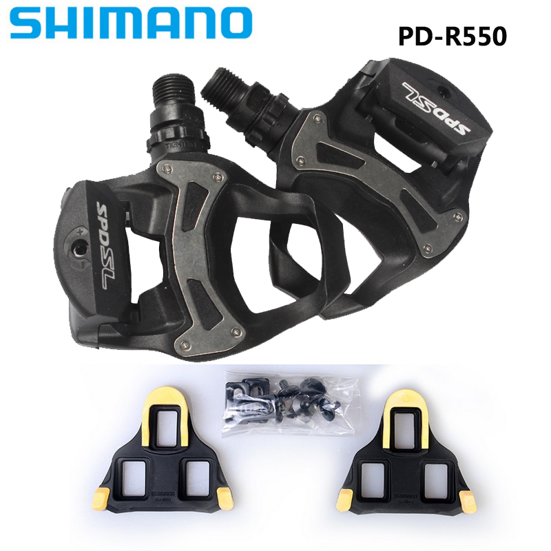 SHIMANO PD R550 Self Locking SPD Pedals Components Using for Bicycle Racing Road Bike Parts pd