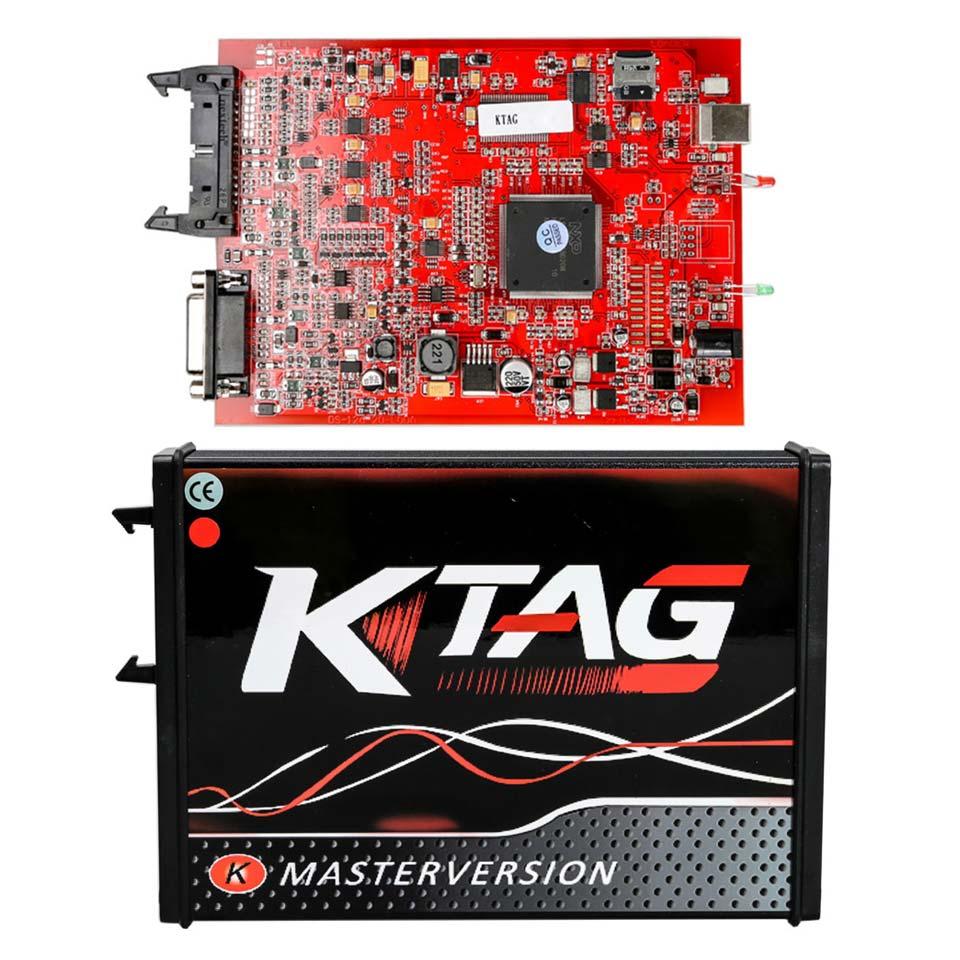 Online EU Version Red PCB KTAG V7.020 ECU Programmer Tool K TAG Firmware 7.020 Software V2.23 OBD2 Manager Tuning Kit k tag