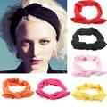 1piece Women Rabbit Bow elastic hair band Headband Top Knot Turban headwrap HairBand headdresshead band girl hair accessories