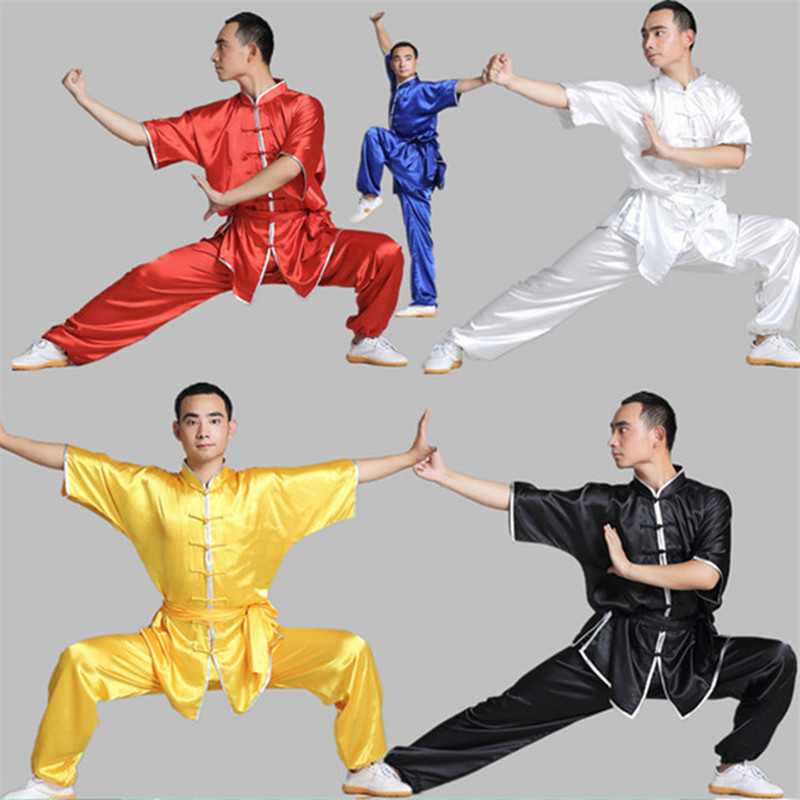 Taoyekma 2019 Kung Fu Uniform Short Sleeve Kung Fu Clothes Men Male Kung Fu Suit Aditional Chinese Clothing Martial Arts Sets