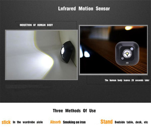 Image 4 - Coquimbo lampe murale magnétique à double Induction infrarouge PIR LED, éclairage de nuit magnétique, éclairage de placard, escaliers