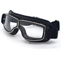 Vintage Motorrad-schutzbrille Pilot Retro Jet Helm Brillen Vintage motocross goggles Motorrad Sonnenbrille Gläser 4 Farbe Objektiv