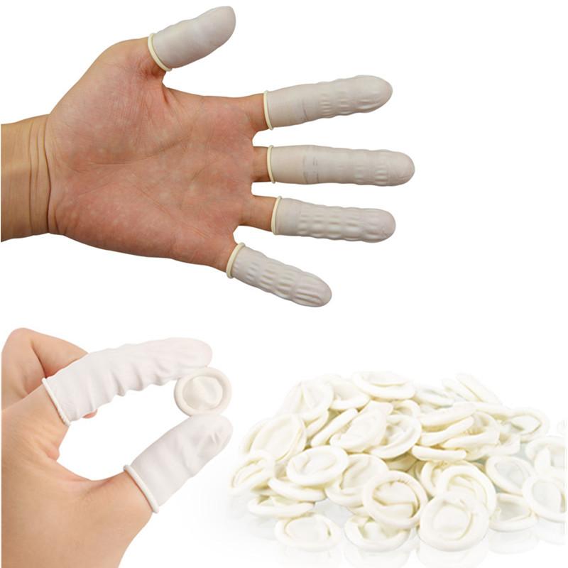 New Arrival 100pcs Natural Rubber Gloves Finger Cots Latex Fingertip Protective Disposable