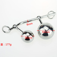 NEW Stainless Steel Fetish Vagina Analm Hollow Ball Plug Butt Anal Toys Female Chastity Belt Adult Sex Product Sex Toys