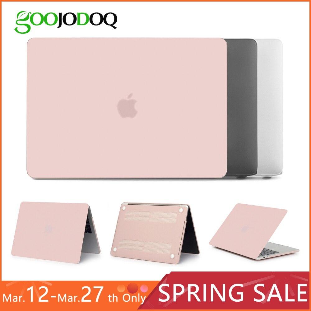 Ultra Slim/Cristal mate para Apple MacBook Air 13 A1932 2018 11 12 13 15 Retina 15 cubierta portátil caso transparente