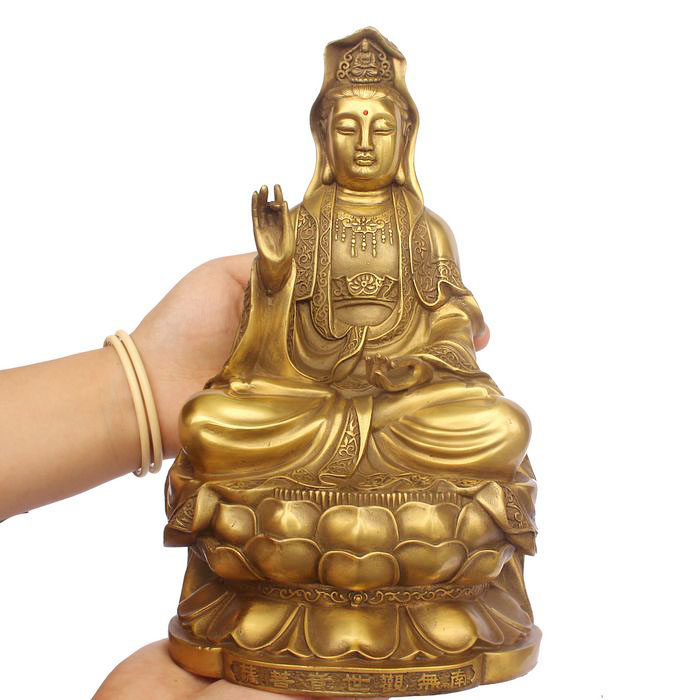 2017 home LIVING ROOM protective efficacious Mascot the Buddhist Goddess of Mercy, Guanyin bronze statue sculpture Decoration