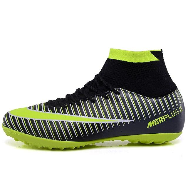 721da9fdbd Indoor futsal futebol botas sapatilhas homens Baratos chuteiras de futebol  superfly original meia futebol sapatos com