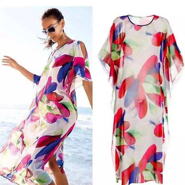 c667a6819a New Women Bikini Cover Up Beach Dress Covered Beach Skirt Beach pareo Beach  wear Blouse Tops Lace Swimsuit Smock  j03 F