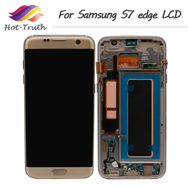 ORIGINAL 5.5 ''Amoled affichage LCD avec cadre pour SAMSUNG Galaxy S7 edge G935 G935F écran tactile numériseur assemblée