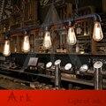 ARCA LUZ Sótão Do Vintage Bar Personalizado Pingente de Tubulação de Água Da Lâmpada E27 Edison lâmpadas de Iluminação Industrial Do Vintage
