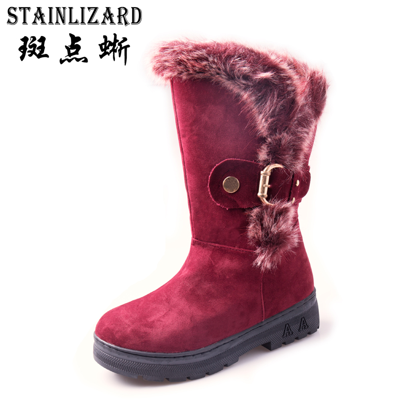 Warm Winter Boots Women Snow Casual Bowtie Flats Women Leisure Fur Ankle Boot Footwear Round Toe Shoes Ladies Boots DT1012 armoire hot sales black yellow red brown gray flats women slouch ankle boots solid ladies winter nude shoes aa 3 nubuck