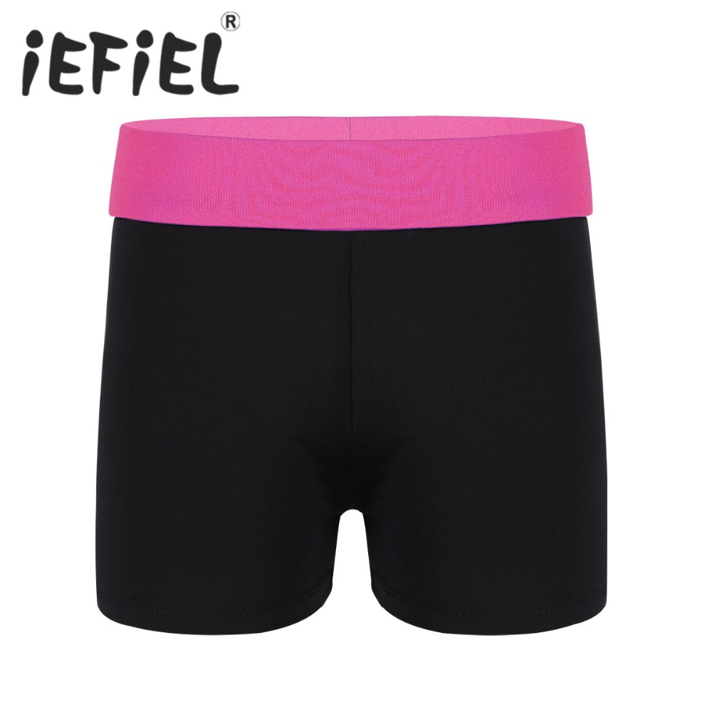 iEFiEL Girls Children Ballet Dancewear Kids Activewear Shorts Bottoms for Sports Gymnastic Workout Exercise Performance Shorts