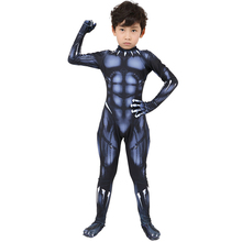 Kids Adult Cosplay Black Panther Costumes Latex Mask Anime Costume  Suit Halloween BOOCRE