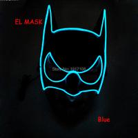 2018 New arrival EL   mask   flashing EL Wire LED Prom makeup   party     masks   Halloween   mask   Luminous   mask