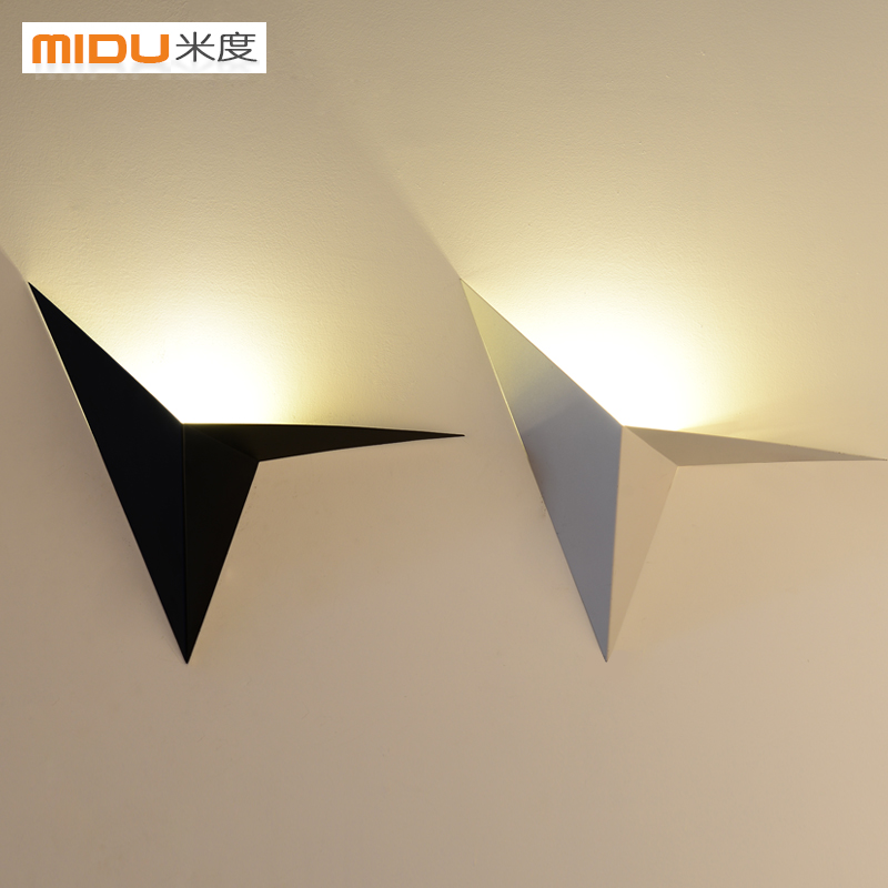 modern minimalist LED iron wall lamp bedroom living room balcony staircase aisle lamp bedside lamp wall light 12w led wall lamp bedroom bedside living room hallway stairwell balcony aisle balcony lighting ac85 265v hz64