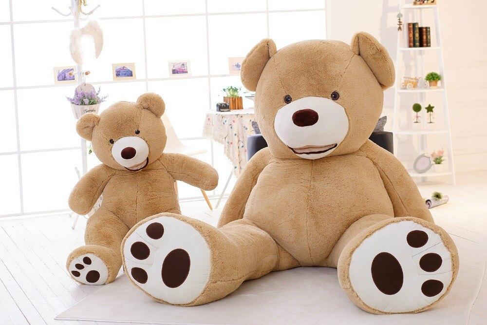 Énorme ours 53 pouces en peluche, environ 130 cm heureux sourire ours en peluche jouet ours en peluche poupée calin oreiller jouet cadeau d'anniversaire w9234