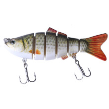 HENGJIA 1pcs 10cm 17.5g Wobblers 6 Segments Swimbait Crankbait Fishing Lure Beit 6 Colors