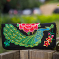 Women Wallets Chinese Embroidery Canvas Vintage Coin Purses Card Holder Wallets Designer Female Purse Carteiras Porte Monnaie