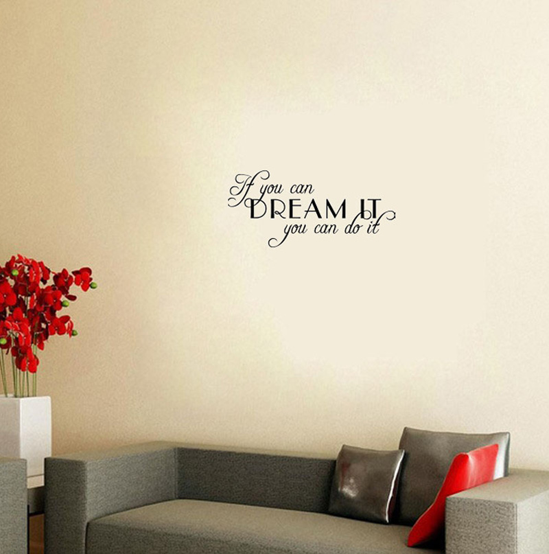 Cacar If You Can Dream It Do Quotes And Sayings Baby Wall Stickers Bedroom Art Vinyl Home Decor In From Garden On
