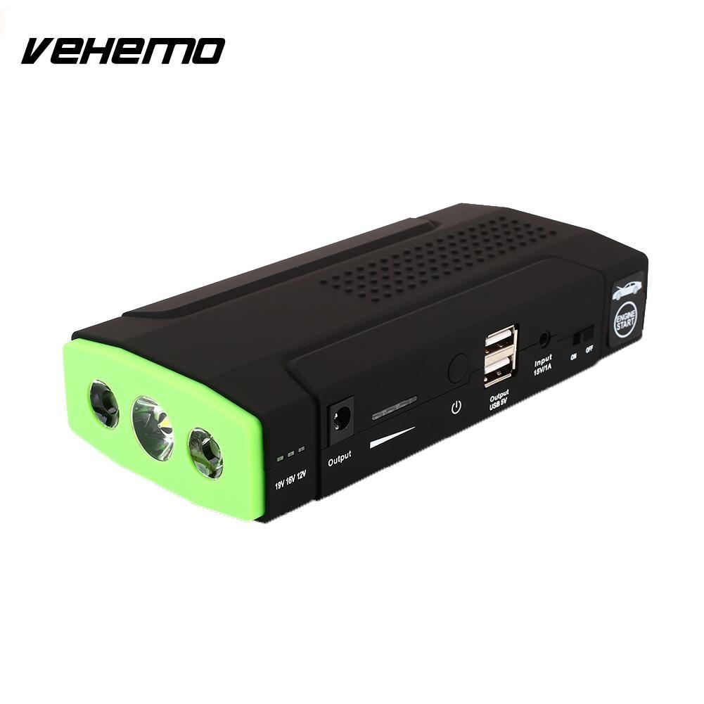 Vehemo Dual USB Power Kit Motorcycle Jump Starter Kit Universal Car Jump Starter Kit Car DIY Emergency все цены