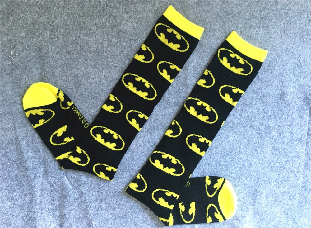 New Arrival Batman Knee-High Couples Socks Men Woman Marvel Comic Cosplay Socks Cotton Calf Socks Sports Socks