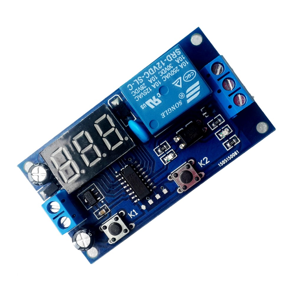 Electrical DC 12V Time Relay Module Digital Display Trigger Cycle Time Delay Relay Module Board YYA-3 Top Sale dc 12v relay multifunction self lock relay plc cycle timer module delay time switch