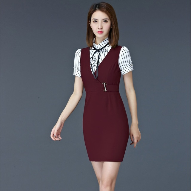 Formal Professional Summer Short Sleeve Business Women Work Wear