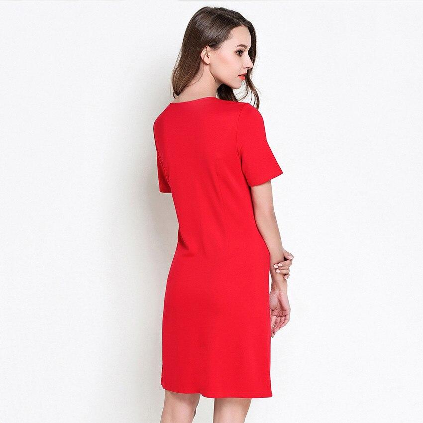 schwarzrot frauen kurzarm sommer 5xl M plus verschluss 2018 minikleider gre dress elegante hochwertige mode frau rei roCdxBe
