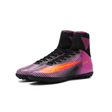 2017 TBA women Soccer Boots With Ankle Turf Shoes Big Size High Top Soccer Cleats Training Football Sneaker shoes
