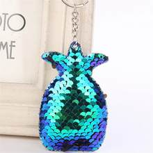 Fashionable Pineapple Shape Reflective Glossy Key Chain Key Ring Gift Jewelry(China)