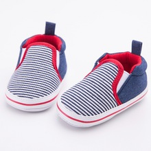 Fashion Newborn Baby Boys Kids Handsome Striped Infant Toddler First Walkers Classic Casual Loafers Crib Babe Soft Soled Shoes