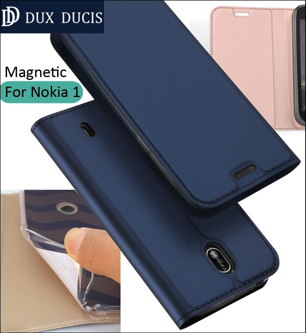 D'origine DUX DUCIS Housse Pour Nokia 1 Flip Book Portefeuille En Cuir Magnétique