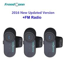 Cena hurtowa!! 3 sztuk Freeconn t comfm motocykl motocykl kask Bluetooth z interkomem Multi interkom zestaw słuchawkowy z radiem FM