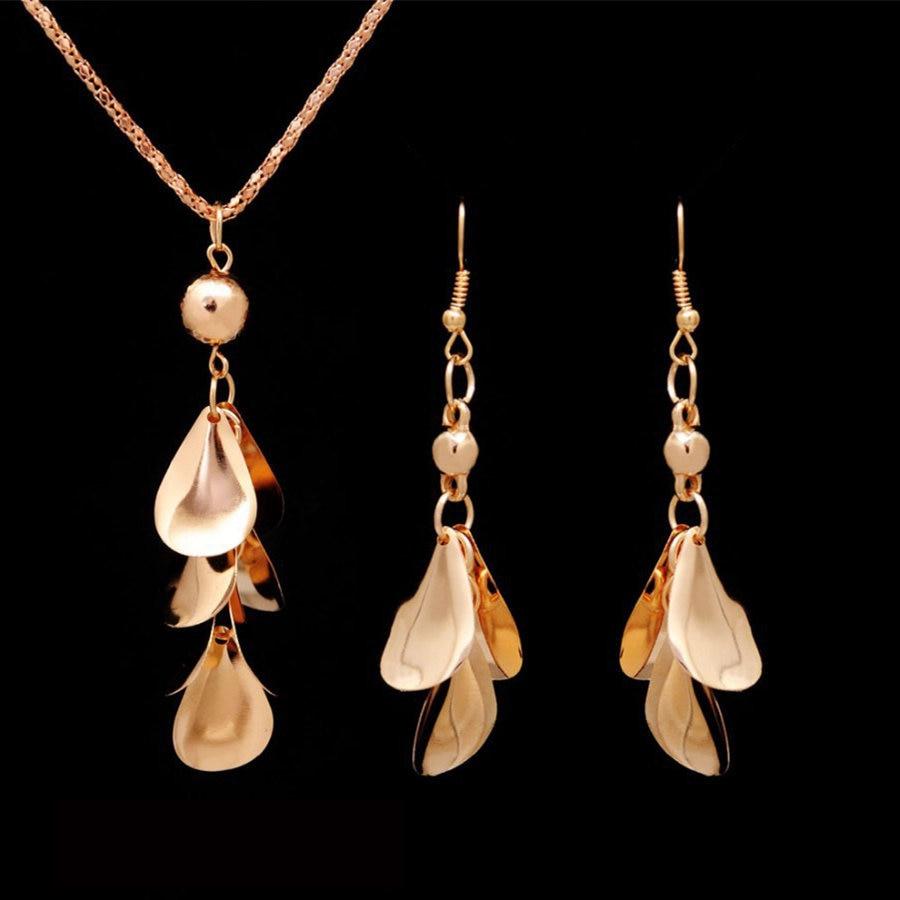 Schmucksets & Mehr Sonnig Kinel Luxus Vintage Hochzeit Schmuck Sets Antique Gold Kristall Quaste Halskette Und Ohrringe Für Frauen Ethnischen Stil Schmuck Schmuck Sets