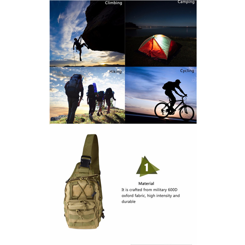 Outdoor Shoulder Military Backpack Climbing Bags Camping Travel Hiking Trekking Bag Cycle Bag 9 Colors23