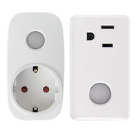 Smart Home 16A Timer EU US Wifi Power Socket Plug Outlet With APP Wireless Controls For