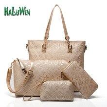 NLT señora mujeres de la moda top mango bolsa de estilo caliente buena venta de cuero bolsa de mensajero bolsa de hombro sólido compuesto conjunto bolsos