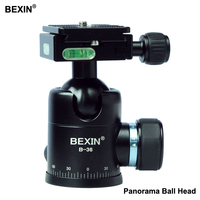 BEXIN Panoramic Tripod Ball Head with Quick Release Plate Clamp UNC1/4 Camera Screw for Nikon Sony SLR camera